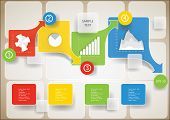 infographic elements step by step template poster
