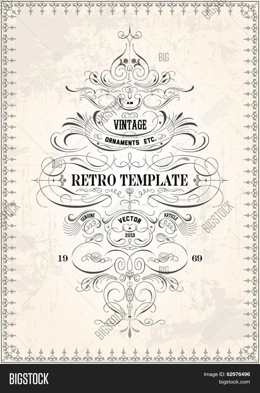 Vector Ornate Frame Ornament Vector & Photo   Bigstock