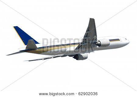 Big jumbo plane isolated on a white background.