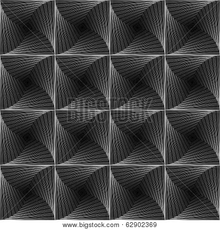 Design Monochrome Seamless Checked Tetragon Background