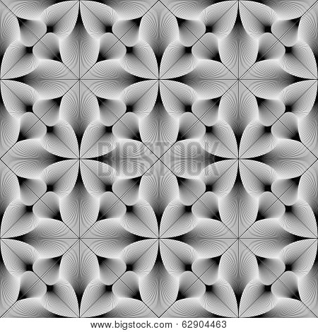 Design seamless monochrome decorative pattern. Abstract lines textured background. Vector art. No gradient poster