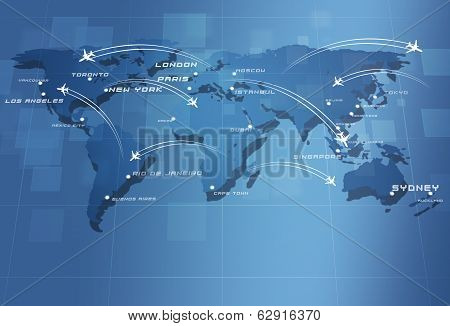 Global Aviation Map
