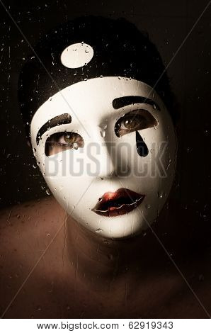 A Portrait With Pierrot Mask