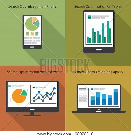 Web And SEO Analytics Concept - Illustration