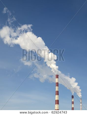 Industrial Smoke From Chimney