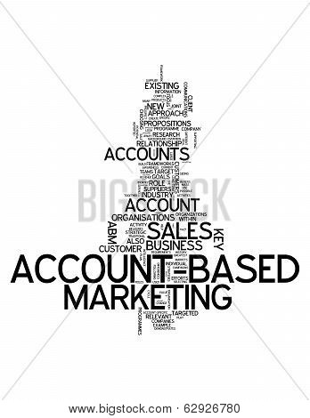 """Word Cloud with """"account-based Marketing"""" related tags poster"""
