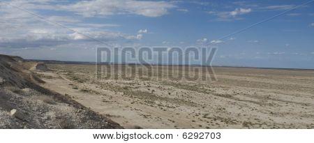 Panorama der Kaspischer plateau