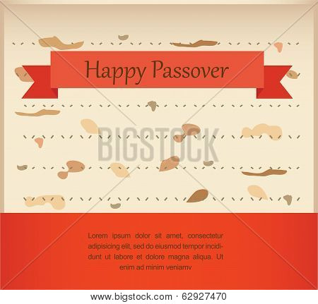 passover invitation on matzoh background