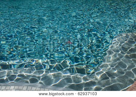 Swimming Pool Water With Leaf