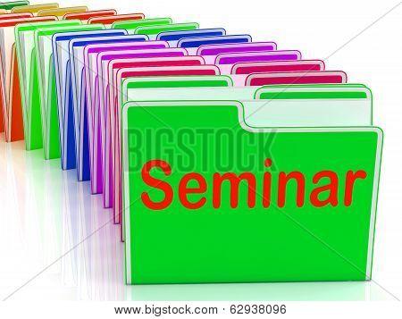 Seminar Folders Show Convention Presentation Or Meeting