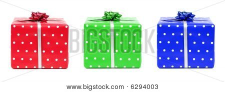 Red, Green And Blue Gifts