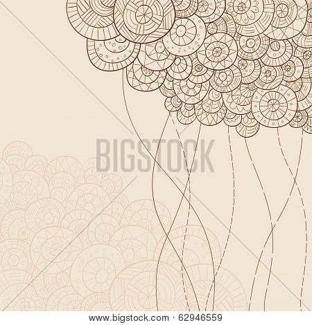 Monochrome Abstract Hand Drawn Background
