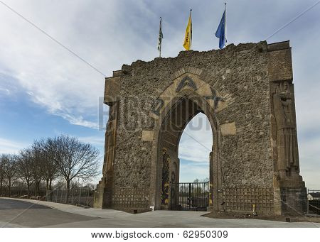 The Peace Gate In Diksmuide Near Ypres.