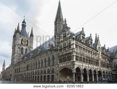 Ypres Belfry And Town Hall.