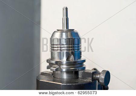 Radial Mill Cnc Tool. Closeup.