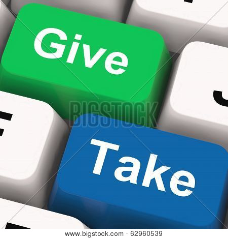Give Take Keys Show Generous And Selfish