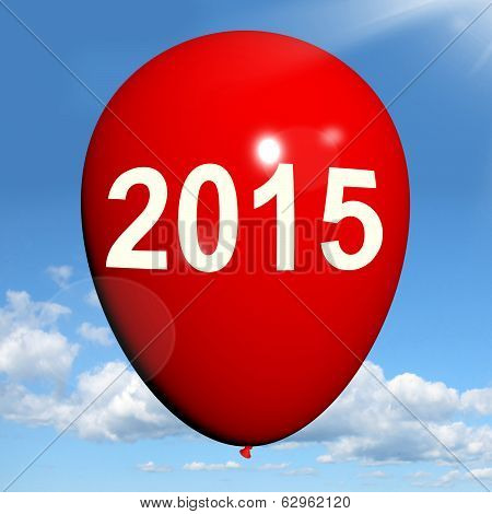 Two Thousand Fifteen On Balloon Shows Year 2015