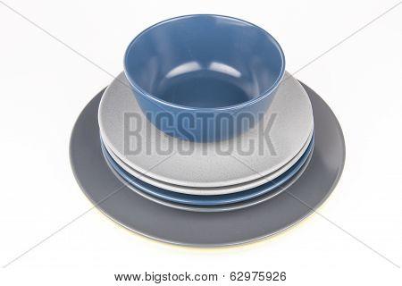 Porcelain isolated on white background