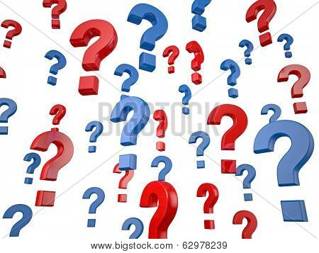 3d question mark on white background