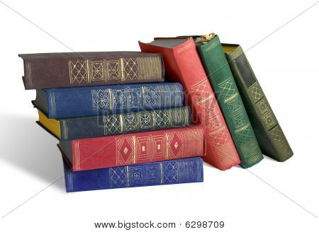 Old Books On White Background