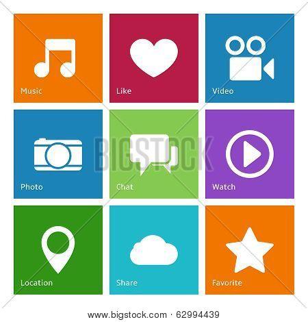 Social media user interface elements