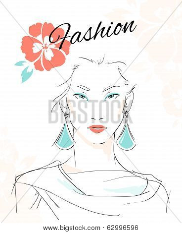 Fashion portrait of sensual woman