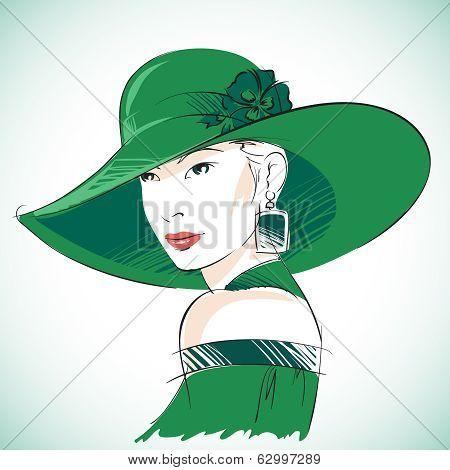 Attractive sensual woman portrait
