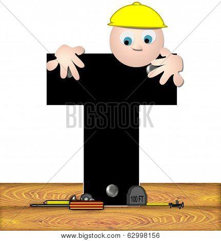 Alphabet Construction Worker T