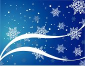 snowflakes on blue background abstract vector illustration poster
