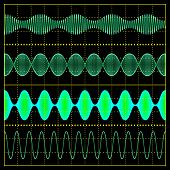 illustration of amplitude modulation is used to display the signal poster