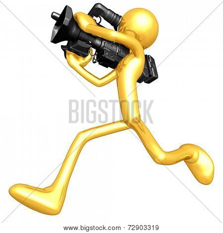 Gold Guy Cameraman