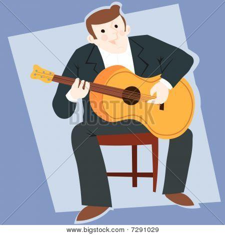 Flamenco guitarist typical spanish