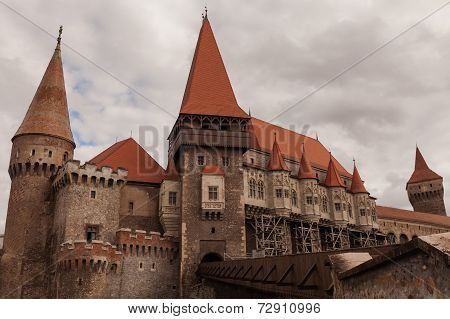 Corvin Castle, Hunyad Castle, A Spectacular Medieval Castle In Transylvania, Romania