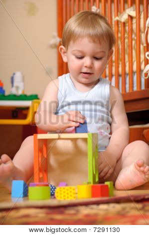 Playing With Colorful Blocks