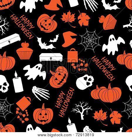 Halloween Dark Seamless Pattern Eps10