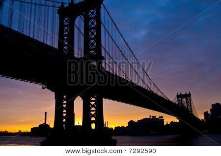 Sunrise Over Manhattan Bridge