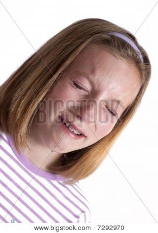 sobbing little girl