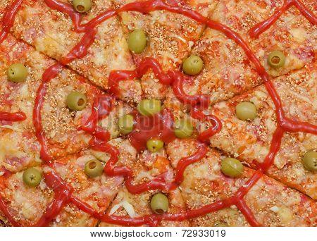Sliced Pizza Background