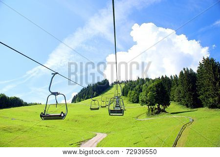 Summer attraction in Alps Mountains
