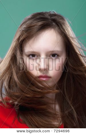 Young Girl Posing As A Model