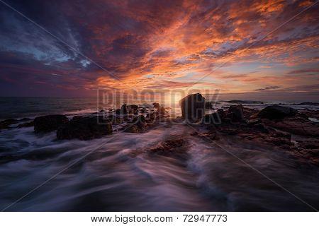 Manzanillo Bay sunset.