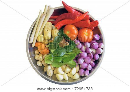 Fresh Ingredients For Cooking Curry Sauce