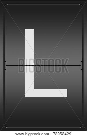 Letter L On A Mechanical Leter Indicator
