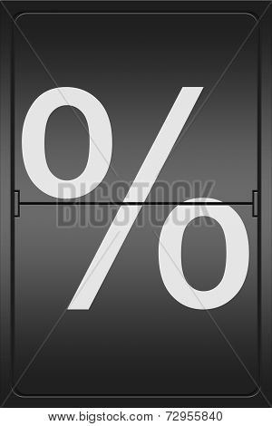 Percent Sign On A Mechanical Leter Indicator