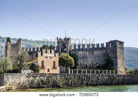 "poster of Scaliger Castle Museum ""Museo del Castello Scaligero"" in Torri del Benaco, Lake Garda in Northern Italy"