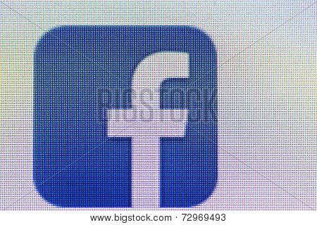 Facebook Icon On Computer Screen