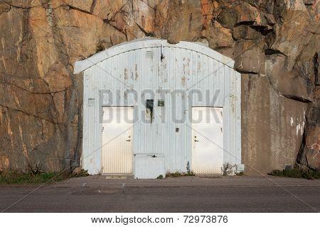 Entrance to an air-raid shelter