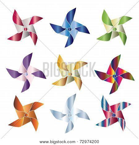 Shiny pinwheels