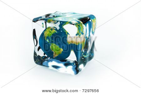 Planet In Ice Cubes