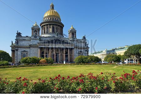 Saint Isaac Cathedral In St Petersburg, Architect Auguste De Montferrand